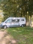 Wild camping in Meyssac, France