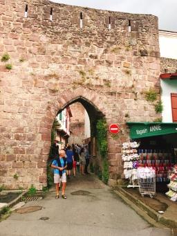 Old gates into the city St Jean-pied-de-Port, France