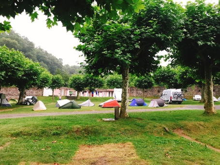 Camping in St Jean-pied-de-Port, France