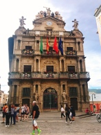 City Hall, where the running of the bulls starts....Pamplona, Spain