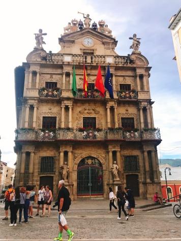 City Hall, where the running of the bulls starts....Pamplona, Spain