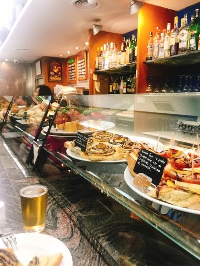 tapas in Pamplona Spain