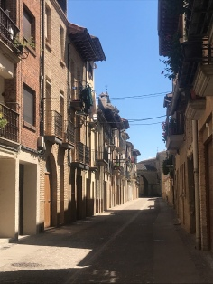 Calle Mayor in Puente la Reina, Navarra