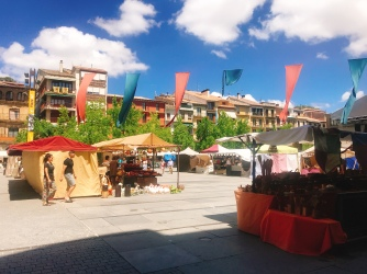Main plaza in Estella, Navarra, Spain