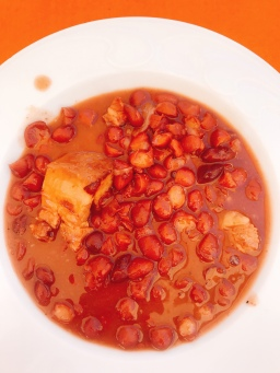 Beans and pork(fabada) in Puente la Reina, Navarra