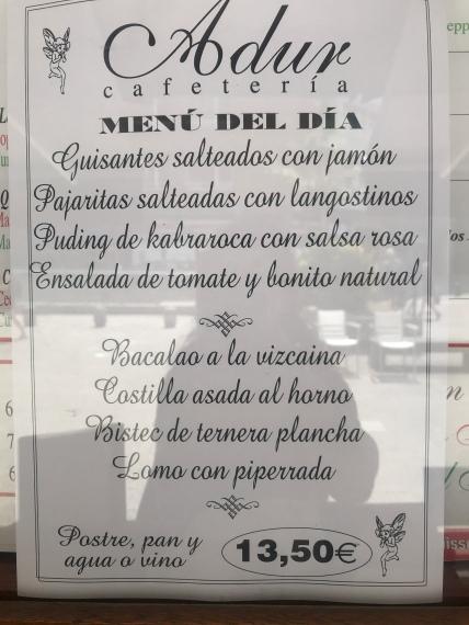 Menu del Dia, Bilbao