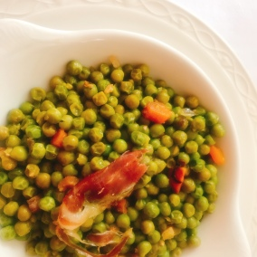Peas and bacon starter