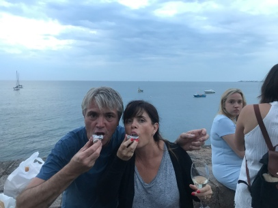 Eating the best oyster ever in Gorey bay