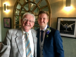 Proud grandad and Cameron