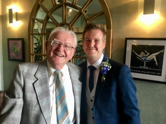 Proud grandad and Cameron