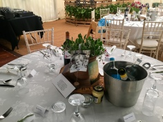 Beautiful tribute on the table for Renate Parsley